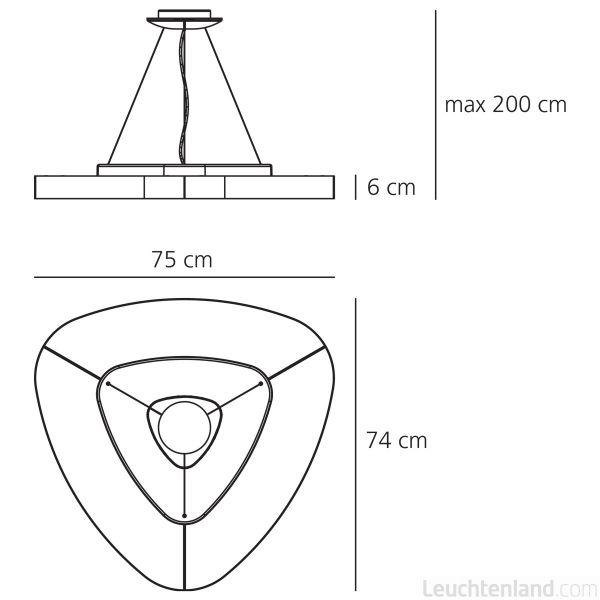 Подвесной светильникArtemideTRIFLUO