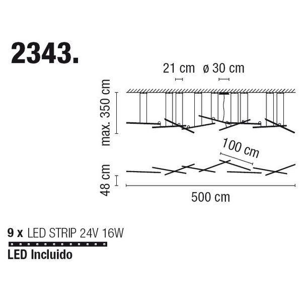 Подвесной светильникVIBIAHALOLINEAR